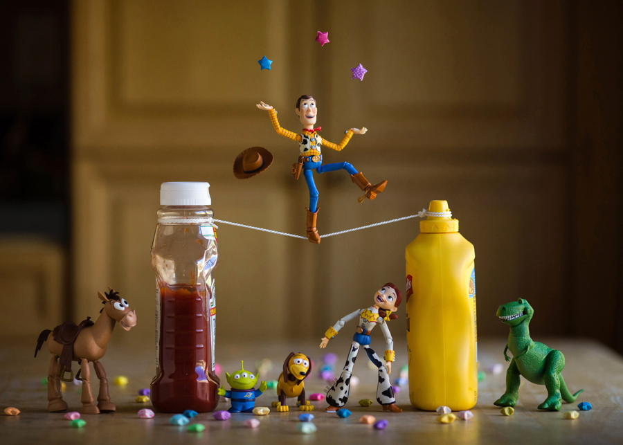 Photo - Mitchel Wu, Woody Tight Rope (Toy Story)