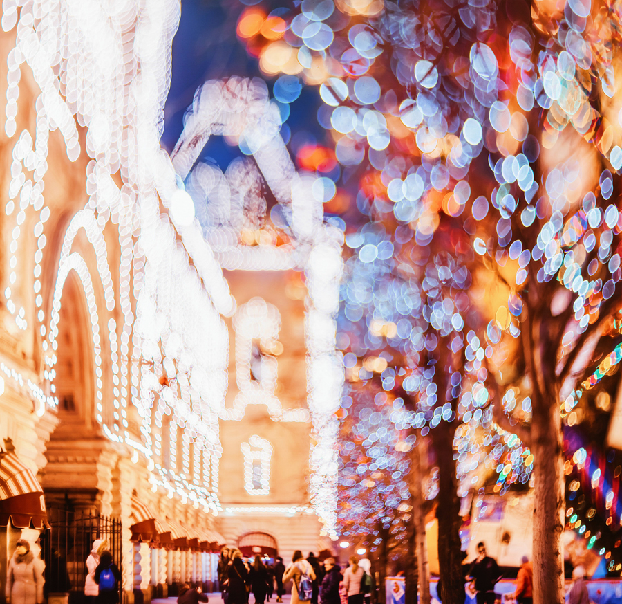 Photo - Kristina Makeeva, hobopeeba, Moscow, Moscou, photo de nuit, hiver, Place rouge, GUM