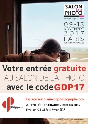 Invitation gratuite offerte Salon de la Photo novembre 2017