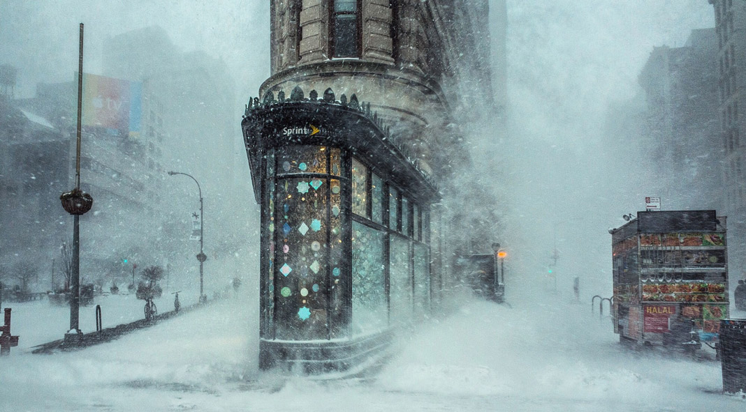 Michele Palazzo - Flatiron building in the storm