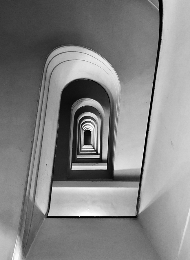 "Massimo Graziani Italy 1st Place – Architecture Rampage ""A stair ramp from Rome in Via Allegri."" Location: Rome, Italy Shot on iPhone 7 Plus"