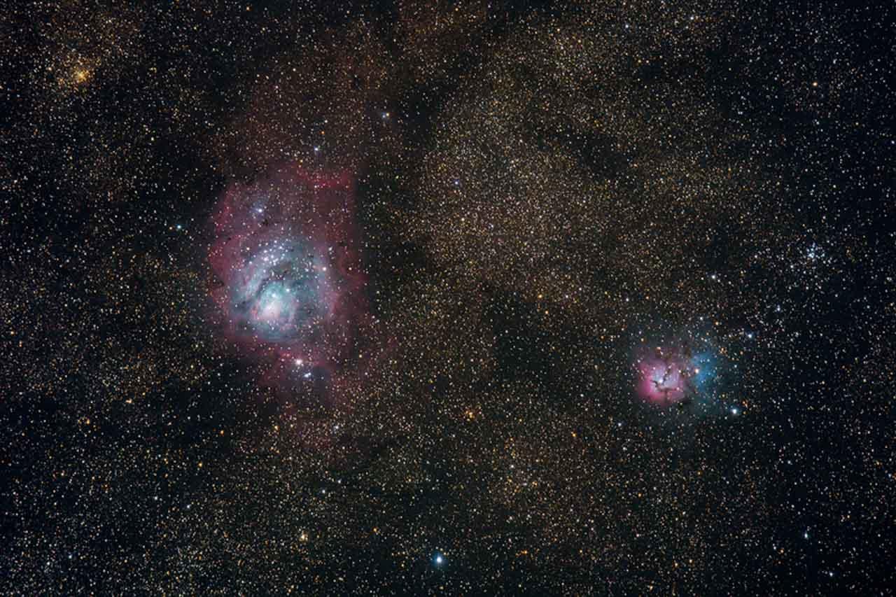 astrophotographie - Nébuleuse de la Lagune (M8) et Nébuleuse Trifide (20) - Xavier Piron - Graine de Photographe